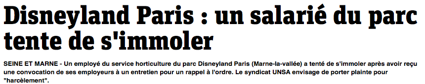Analyse de la communication de crise de Disneyland Paris