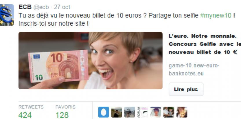 Selfie Billet de 10 euros
