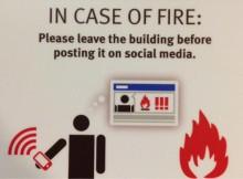 In case of fire Social media