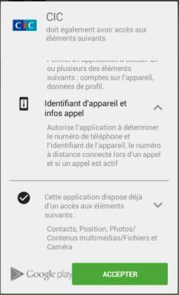Application CIC