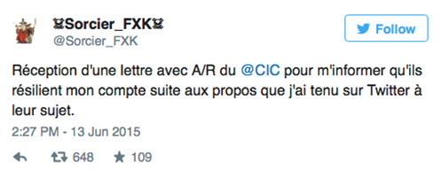 Bad Buzz CiC contre Sorcier