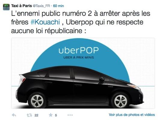 Taxi Charlie Hebdo Attentat
