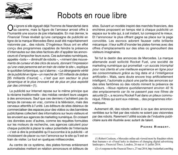 Robots partout