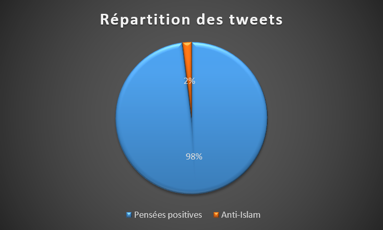 Répartition Tweet AntiIslam