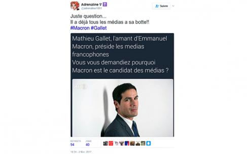 Comment la rumeur parisienne de Gallet avec Macron est passée de la patriosphère aux médias